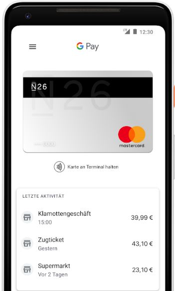 comdirect google pay n26 google pay